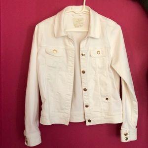 *NEVER WORN* Kate spade white denim jacket